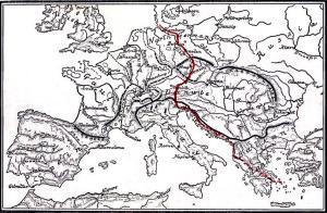 Jantar mapa baltic-amber-trade-route